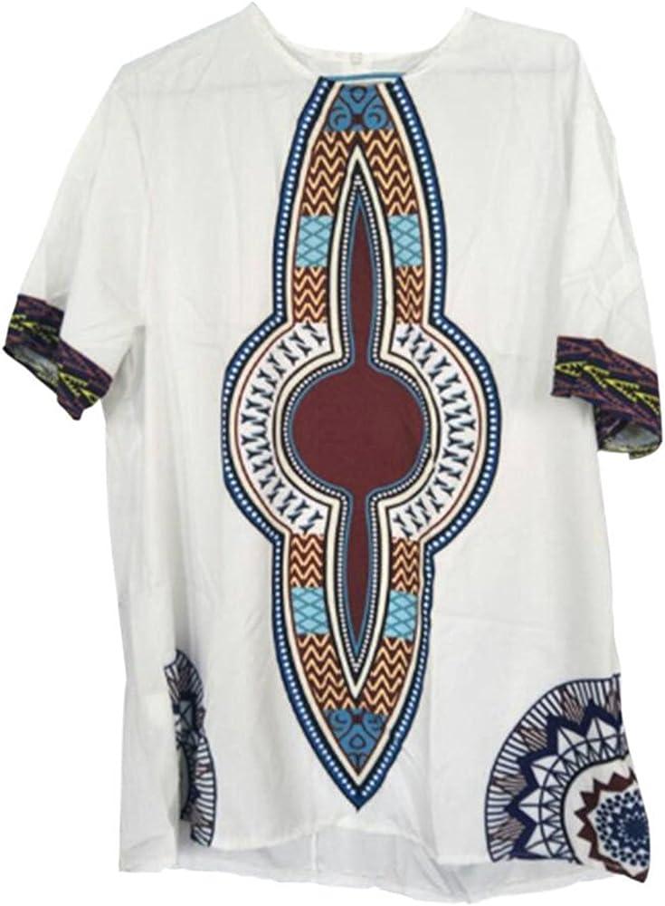Deylaying Hombre Vendimia Africano Nacional Estilo Disfraz Tribal Camisas Tradicion Vestidos Impreso Mangas Cortas Dashiki: Amazon.es: Ropa y accesorios