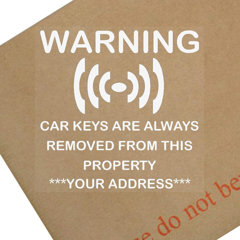 4 x personalised window stickers car keys are always amazon co uk