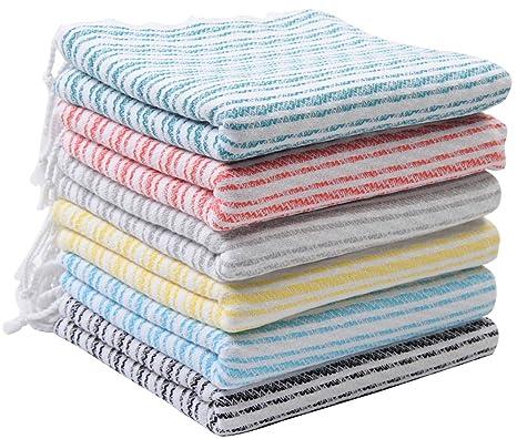 TSHOPPE Juego de 6 toallas turcas unisex, 100% algodón, tamaño gigante, para
