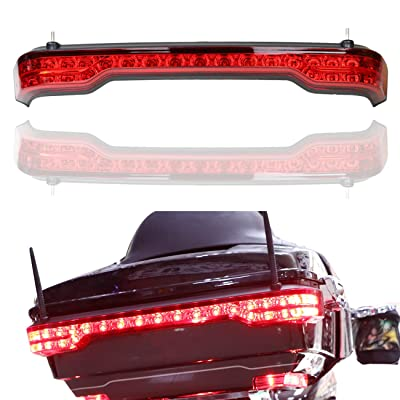 AUFER LED Tail Trunk Box Wrap-around Lamp Light Kit LED Run/Brake/Turn/Emergency Tail Lamp Light & Welcome lamp Flashing Function For Touring King Tour Pak Pack Trunk 2014-2020(Red Lens): Automotive
