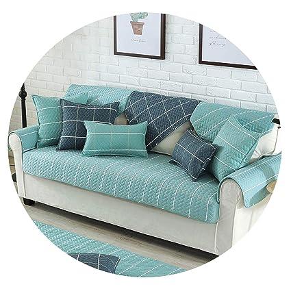 Amazon.com: Nordic Lattice Stripes Cotton Sofa Cover Autumn ...