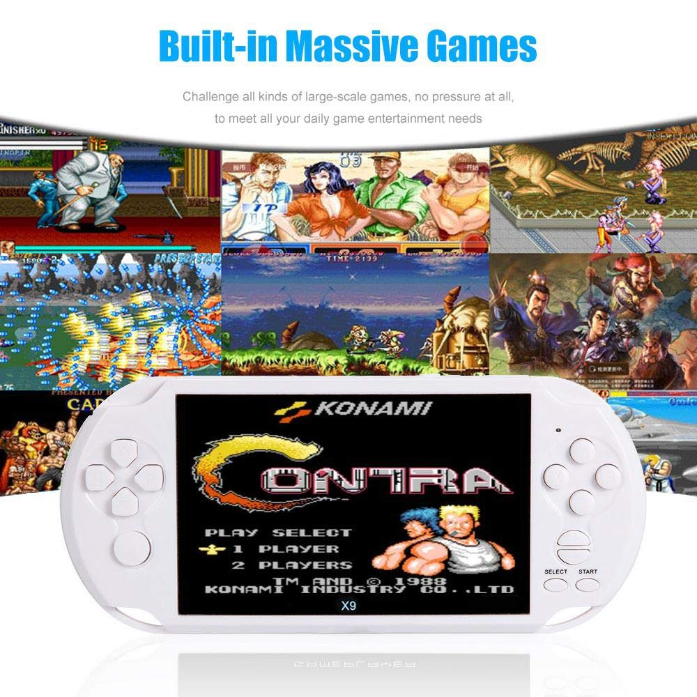 Leegoal Handheld Game Console, 5.1'' HD Screen Retro Game Machine, 8GB/Built in 100 Games/2500mAh Battery Working Time Over 8 Hours, Support CP1/CP2/GBA/SFC/GBS/GB/FC by Leegoal (Image #3)