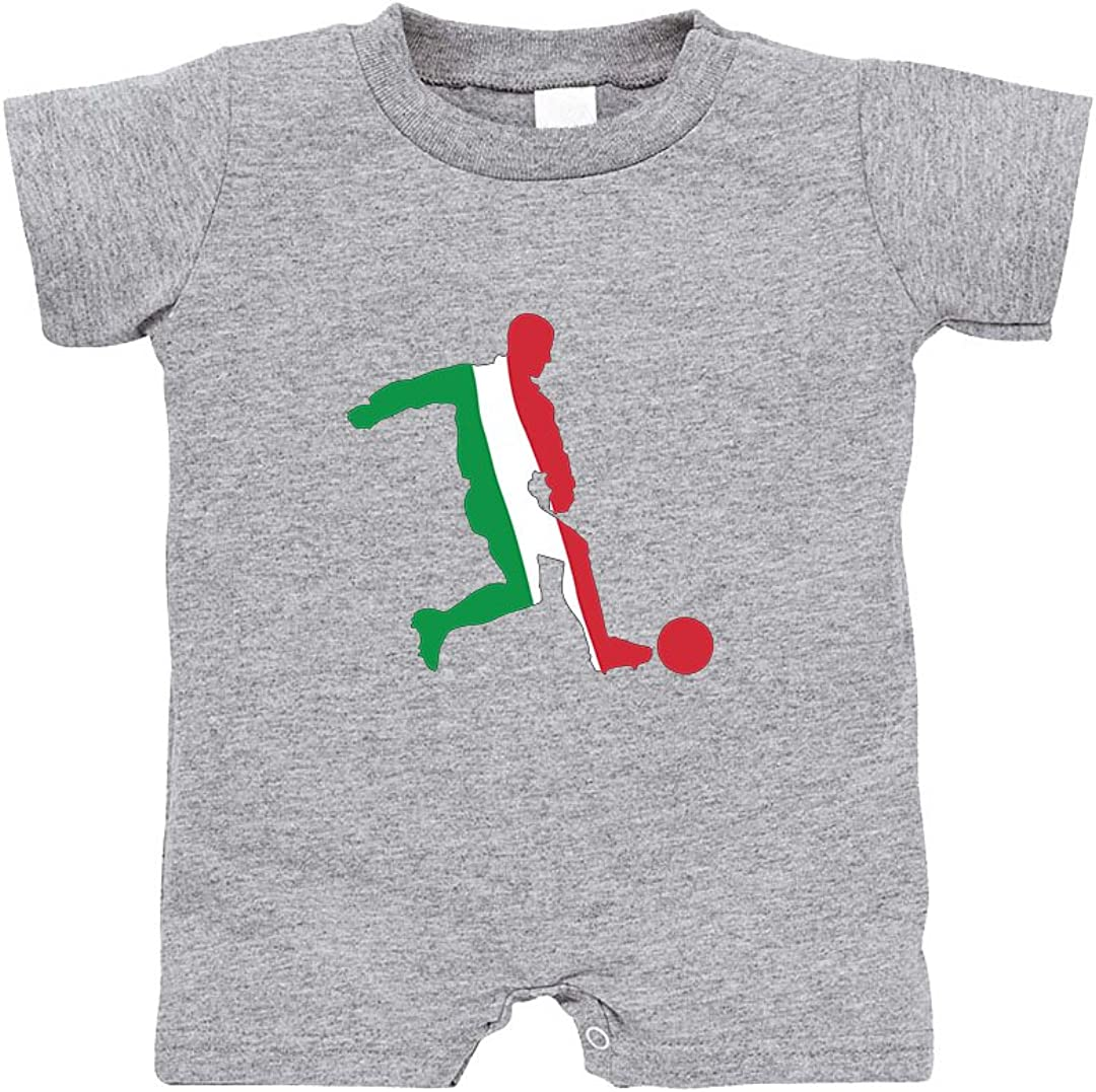 Speedy Pros Soccer Player Italy 100/% Cotton Infant Baby Jersey Tee T-Romper