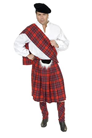 Charades Men's Plus Size Scottish Kilt