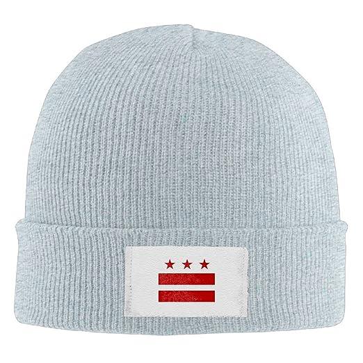 7198dde23663 Washington DC Flag Unisex Acrylic Knit Beanie Hat Winter Skull Cap at  Amazon Men's Clothing store:
