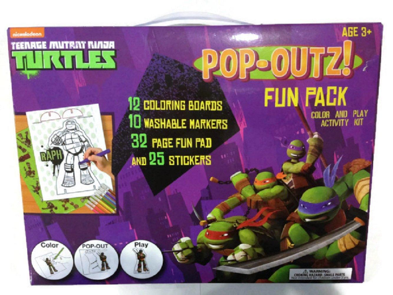Teenage Mutant Ninja Turtles Pop-Outz! Fun Pack - 12 ...
