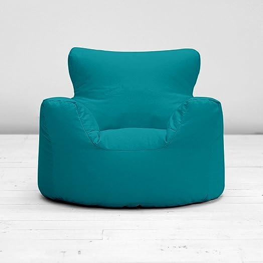 Childrens Kids Teal Blue Green Cotton Small Chair Seat Beanbag Bean Bag Filled