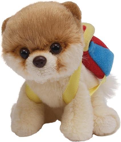 "Gund Itty Bitty Boo Dog wearing Backpack 5/"""