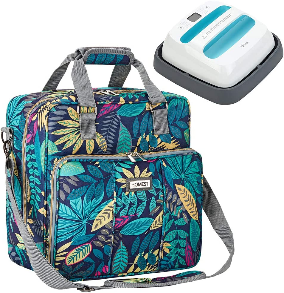 HOMEST Heat Press Machines Carrying Case, Compatible with 9 x 9 inches Cricut Easy Press 2, Floral (Patent Design)