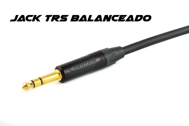 Cable para micrófono y sonido balanceado 3, 5, 7Ž5, 10, 12Ž5 y 15 metros URO, TRS-XLR (CANON) (12,5 METROS, NEON): Amazon.es: Instrumentos musicales