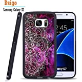 Galaxy S7 Case, Samsung S7 Black Case, Dsigo TPU Black Full Cover Protective Case for New Samsung Galaxy S7 - Vintage purple nebula
