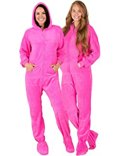 7ea3d114b7 Amazon.com  Footed Pajamas - Under The Sea Adult Hoodie Chenille ...