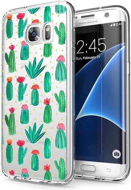 Coque Samsung Galaxy S7 Edge, Eouine Etui en Silicone 3D Transparente avec Motif Fun Fantaisie Peinture [Antichoc] Housse de Protection Coque pour ...