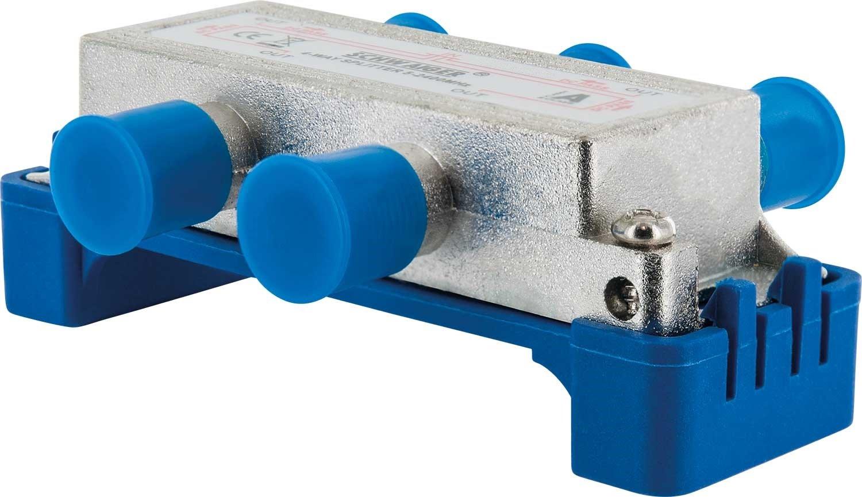 9499 SAT-Verteiler 3-Fach digital//BK-Verteiler Kabel-Fernsehen 3-Wege Verteiler mit Kabel-F/ührung//SAT-Splitter 5-2400 MHz//dreifach Satelliten-Verteiler//f/ür SAT-TV//DVB-S2 SCHWAIGER