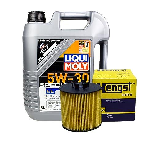 Set 5L de aceite LIQUI MOLY 5 W de 30 + caballo semental de aceite