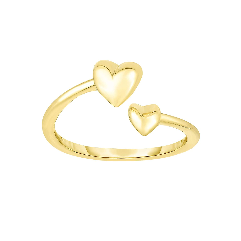 Hearts Yellow Gold Toe Ring
