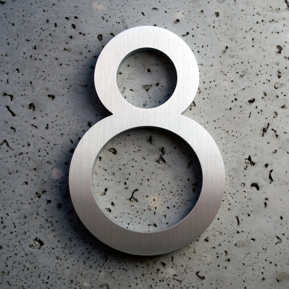 Modern house数アルミ現代フォント数8個8 – 8インチ B005O5E7F0
