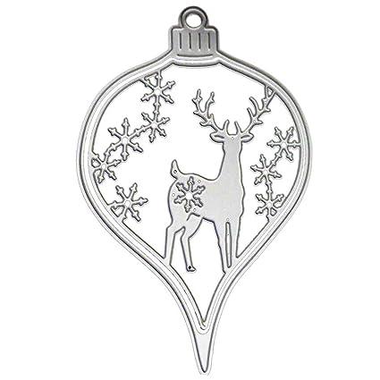 FairySu Christmas Ornaments Cutting Dies Stencils Xmas Deer Snowflake  Decorative Embossing Scrapbooking Die Cut - Amazon.com: FairySu Christmas Ornaments Cutting Dies Stencils Xmas
