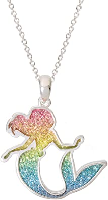 PRINCESS ARIEL MERMAID NECKLACE 18 INCH STRONG CHAIN 4 TO 6 Y GIFT BOX BIRTHDAY