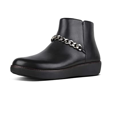 831602cac63d Fitflop PIA Chain Ladies Leather Ankle Boots Black  Amazon.co.uk ...