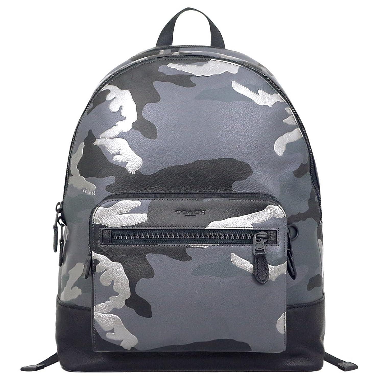 [コーチ] COACH バッグ (リュック) F29050 グレーマルチ MWGRM カモフラージュ レザー リュック メンズ レディース [アウトレット品] [ブランド] [並行輸入品] B07D2DNLRM
