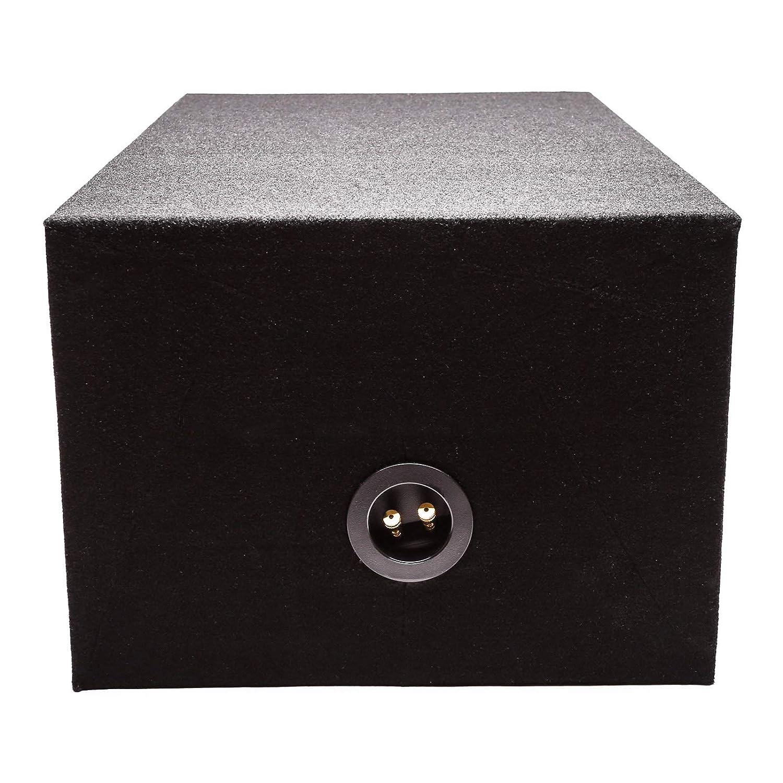 Skar Audio Dual 6.5 Universal Fit Vented Subwoofer Enclosure with 1 MDF Heavy Duty Front Baffle Black Carpet SKENC65VENTED-BLK