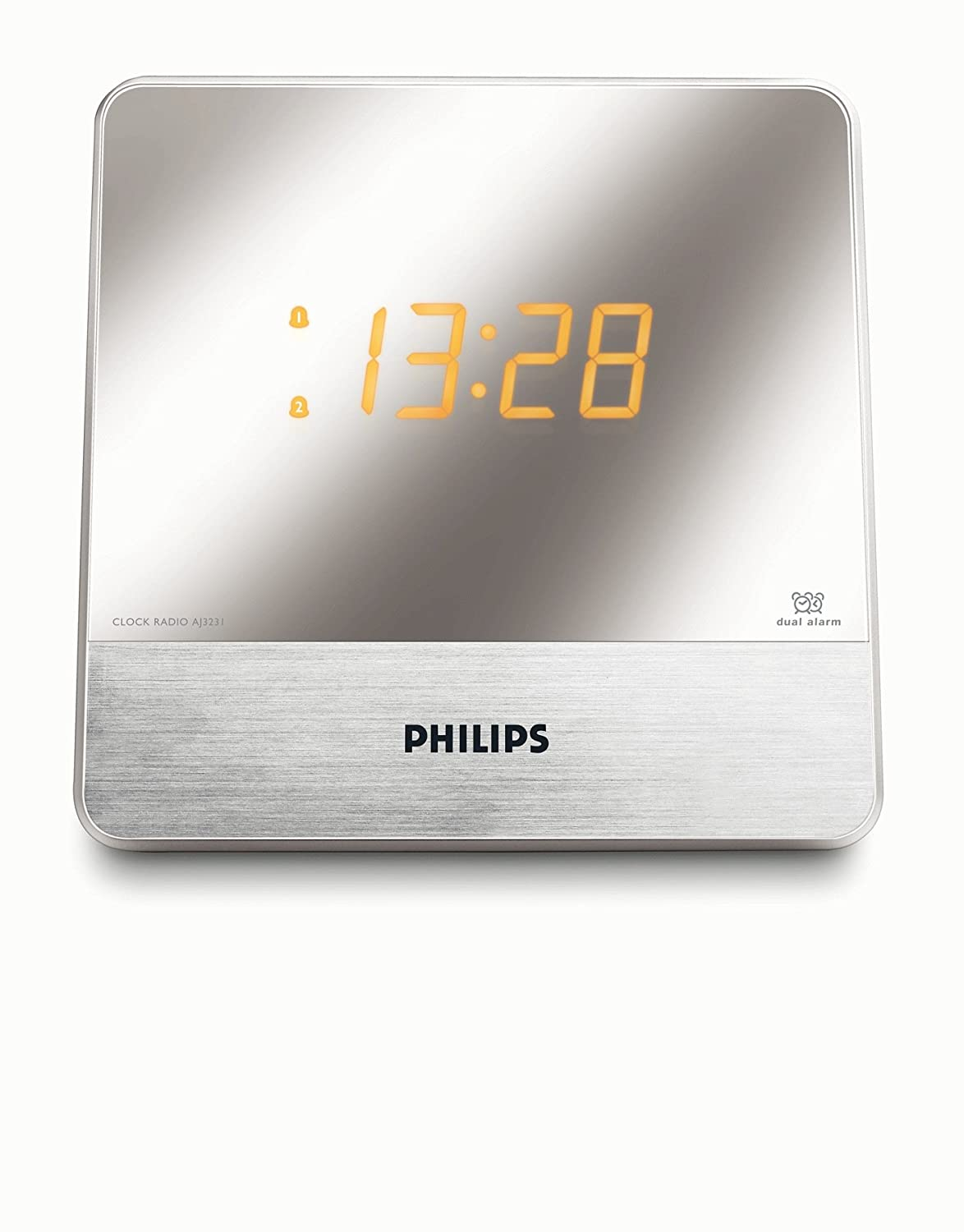 Philips - Radio (Reloj, Digital, FM, MW, 0,1 W, 14 cm, 6,1 cm): Amazon.es: Electrónica