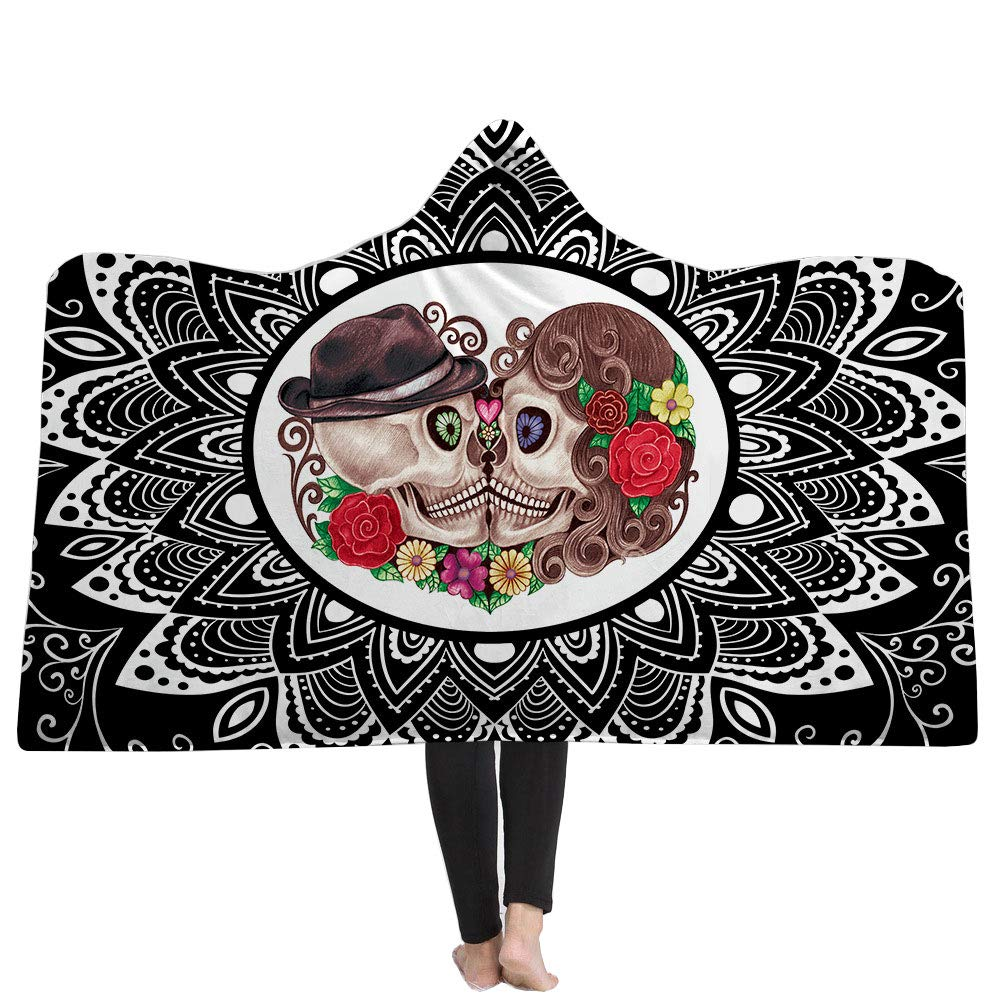 Sparkling Sugar Skull Print Super Soft Throw Blanket for Bed Couch Sofa Galaxy Lightweight Travelling Camping 59 by 51 Inch Throw for Kids Adults Cusphorn CPH899SK1S