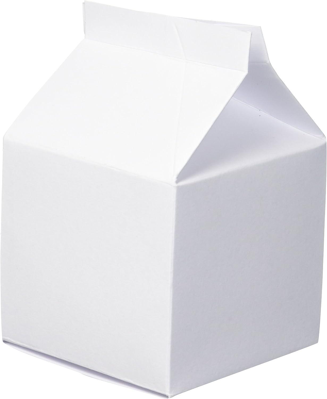 Darice White Party Favor Milk Cartons, 24 Piece