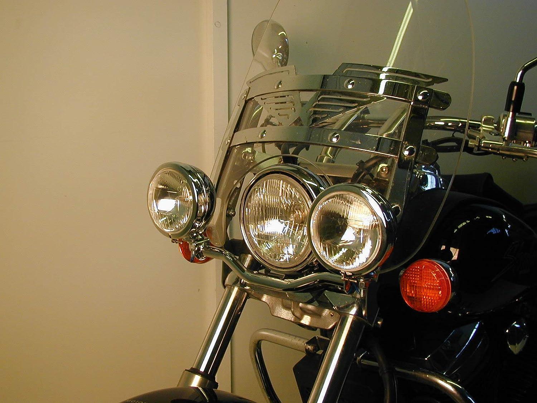 Hepco/&Becker Twinlight Set Zusatzscheinwerfer f/ür Modell mit Scheibe f/ür Honda VT 750 Shadow ab Bj 2008