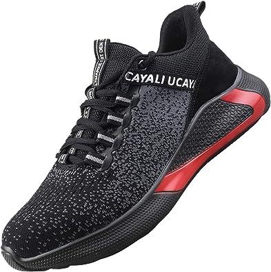 Image ofUcayali Zapatos de Seguridad Hombre Trabajo Cómodas, Zapatillas de Trabajo con Punta de Acero Ultraligero Transpirables, 39-47