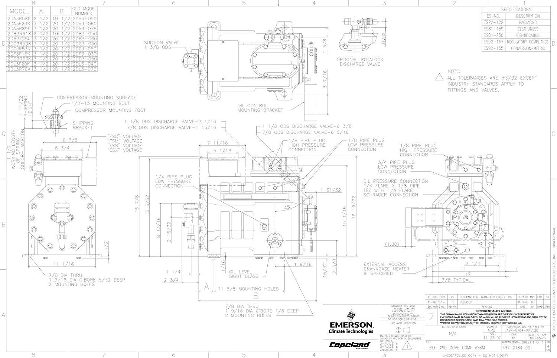 Copeland Compressor Piping Diagram Trusted Wiring Semi Hermetic Amazon Com 2da3075etfc Or 2da3 R 89kl Tfc Rh Single Phase Start Relay