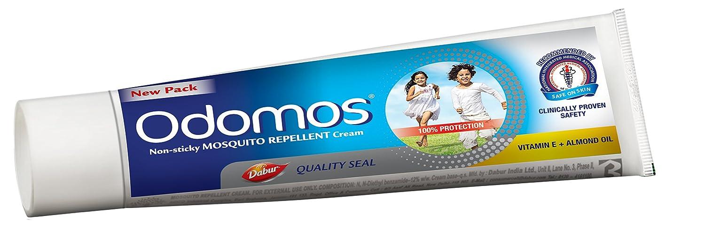 Odomos Non-Sticky Mosquito Repellent Cream (With Vitamin E & Almond) - 100g