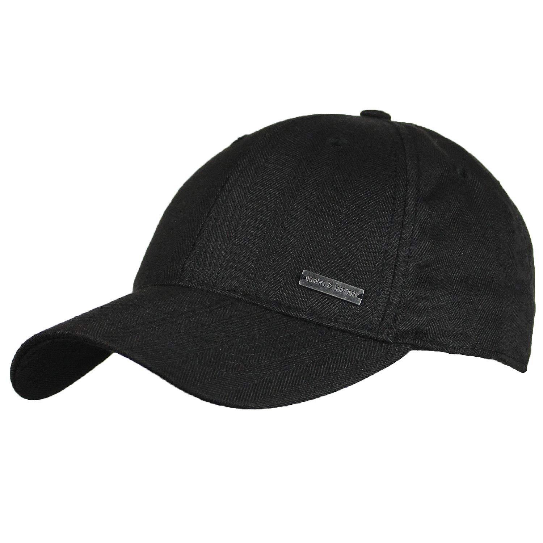75bdd5226e03a6 Baseball Hats for Men by King & Fifth | Baseball Hat with Low Profile &  Stylish Fabric + Baseball Caps + Black Baseball Cap at Amazon Men's  Clothing store: