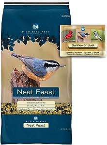 BLUE SEAL Neat Feast Bird Seed & Sunflower Suet Cake Bundle