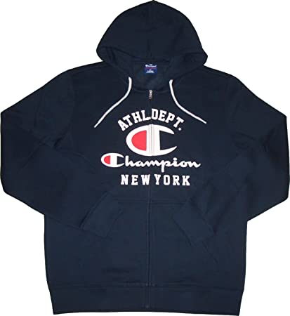 Champion Hooded Full Zip Sudadera New York. Material Suave. Capucha forrada. Cremallera cremallera