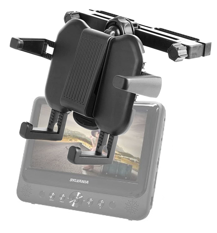 Amazon com duragadget headrest dvd player mount with extendable arms for sylvania sdvd9805 9 inch dual screen dvd player argos value range 7