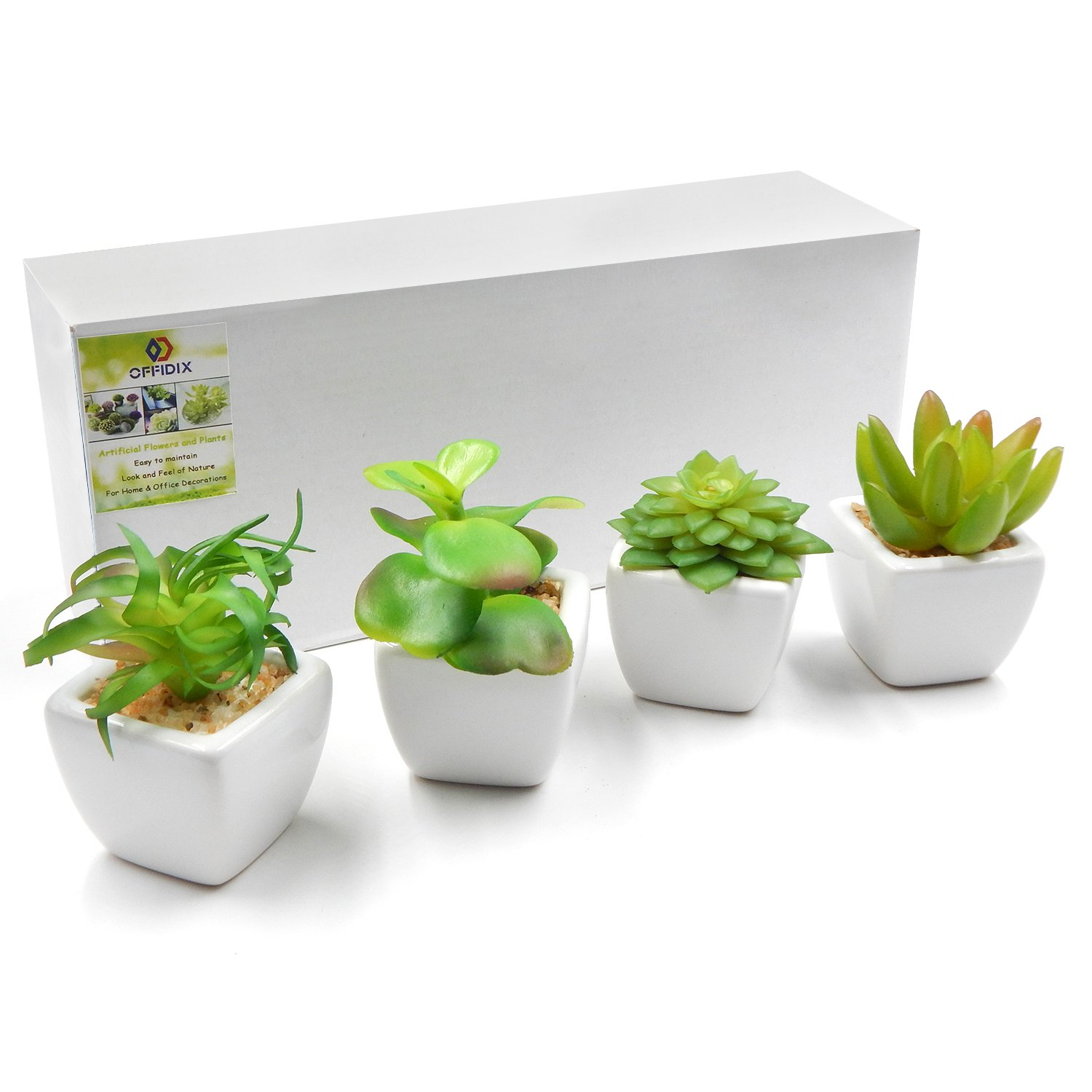 Office pot plants Photoshop Cut Out Offidix Artificial Succulent Plants For Home Office Decoration With Ceramic Pot 4pcsset Indoor Fake Green Potted Plant Succulent Plants 2018 New Year Skyland Gardening Amazoncom Offidix Artificial Succulent Plants For Home Office