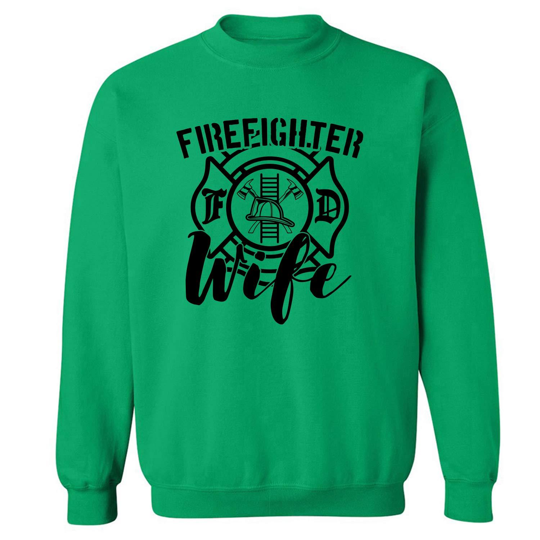 ZeroGravitee Firefighter Wife Crewneck Sweatshirt PA-4049-CR