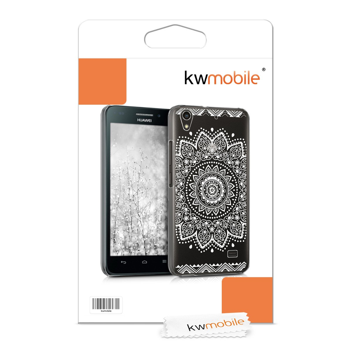 kwmobile Crystal Case for Huawei Ascend G620s - Hard Durable Transparent Protective Cover - White/Transparent