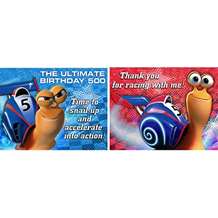 Turbo the Movie Party Invitation and Thank You Pack - 8 count (each)