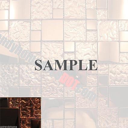 Amazon Com Sample 3 X4 Copper Metal Pattern Kitchen