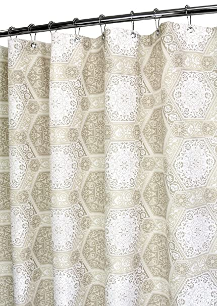 Park B Smith Renaissance Tiles Watershed Shower Curtain Linen