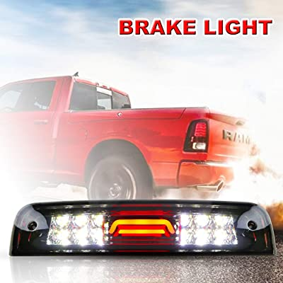 Youxmoto LED 3rd Brake Light High Mount Brake Light Cargo Light Waterproof Fit for 2009-2020 Dodge Ram 1500 2010-2020 2500 3500 Chrome Housing Smoke Lens 55372082AD 55372082AC: Automotive