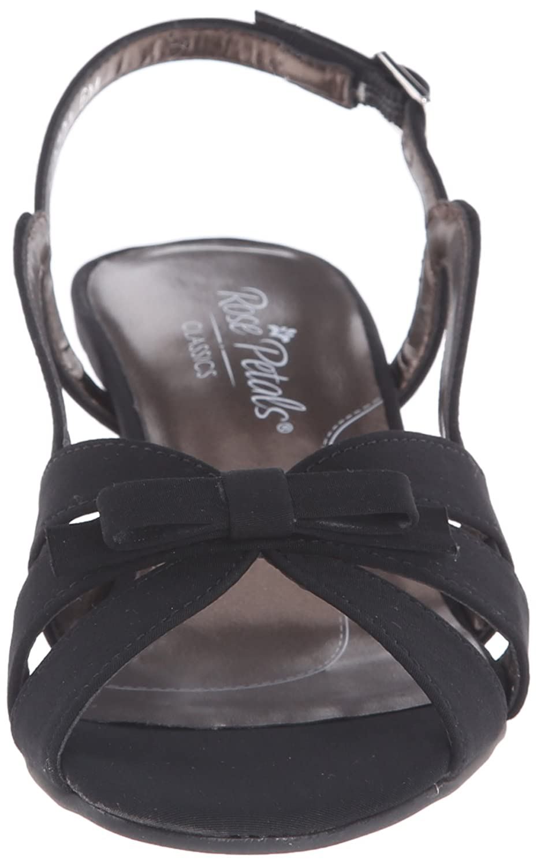 Rose Petals Women's Lela Dress Sandal B000W2F3U8 10.5 W US|Black Micro