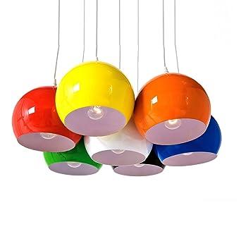 Xtradefactory Suspension À Calottamulticolore 7 Boules Lampe nwOk0P
