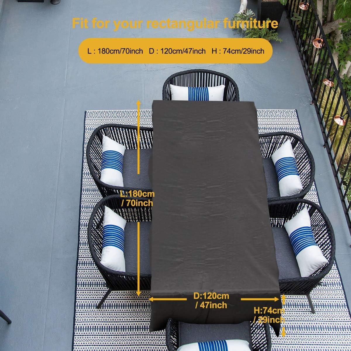 170 * 94 * 70 cm Tela 600D Impermeable Anti-UV Patio Protectores con DiezTama/ños. FlyLemon Fundas Muebles Jardin