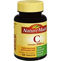 Nature Made Vitamin C 1000mg Dietary Supplement Tablets , 60 CT (Pack of 3)
