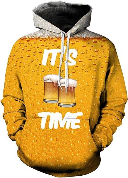 """Sudadera con Capucha: """"Es hora de la cerveza"""""""