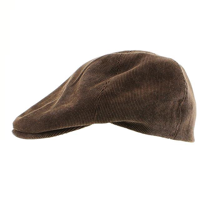 votrechapeau – Gorra irlandesa en algodón – aspecto terciopelo fino – Galway marrón ...